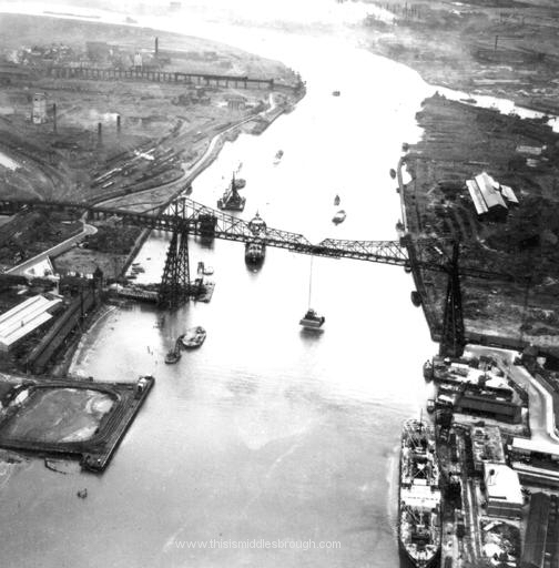 1950s aerial view
