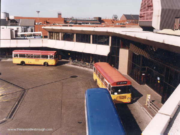 middlesbrough bus station may 1991